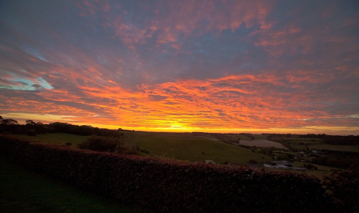 Sunset views over Alkham Valley | Things to do