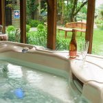 Relax in our hot tub at our Bed and Breakfast in Kent |Alkham Court Farmhouse Bed and Breakfast