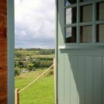 Shepherds hut views to the outside