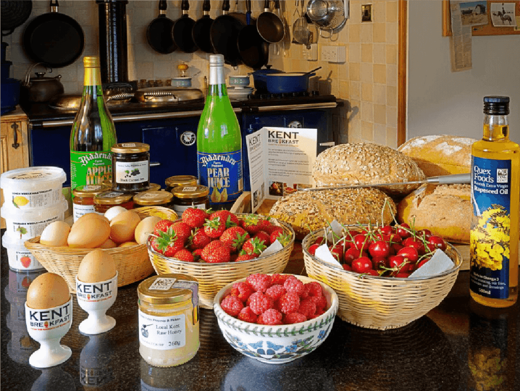 bed and breakfast local kent produce